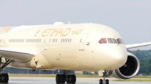 Erste Landung des Etihad Dreamliner