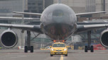 Die Pfadfinder auf dem Flughafen
