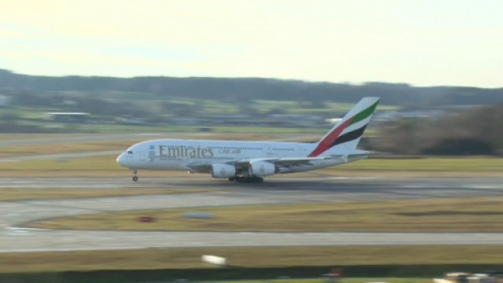 Emirates setzt den A380 nach Zürich ein