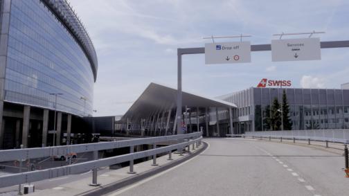Neueröffnung der Vorfahrten am Flughafen Zürich