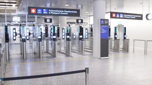 Neu am Flughafen Zürich: Automatisierte Passkontrolle